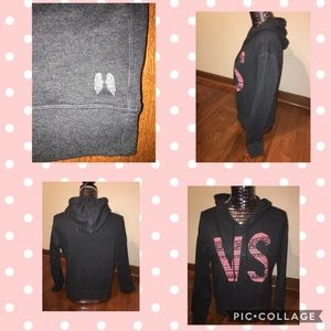 Victoria Secret's VS GraY Hooded Sweatshirt XSMALL